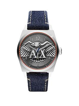 armani-exchange-gunmetal-grey-dial-and-denim-strap-mens-watch