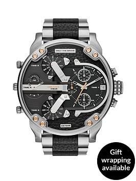 diesel-stainless-steel-and-black-leather-bracelet-mens-watch