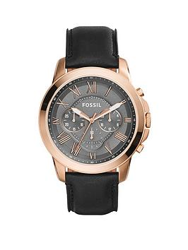 fossil-grant-rose-gold-case-grey-dial-black-lea