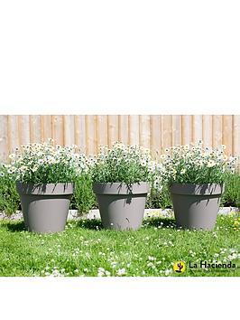 la-hacienda-set-of-3-x-40cm-eco-friendly-capri-pots-taupe