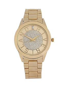 river-island-river-island-yellow-gold-tone-glitter-branded-cut-out-ladies-watch