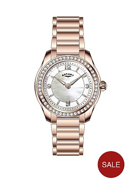 rotary-crystal-set-white-mother-of-pearl-dial-rose-gold-plated-bracelet-ladies-watch