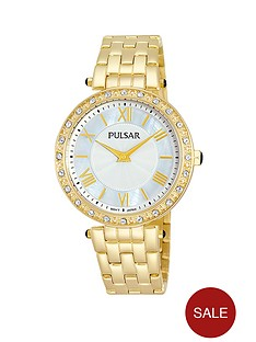 pulsar-mother-of-pearl-white-dial-gold-coloured-ladies-watch