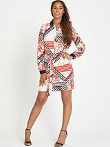 ROCHELLE PRINTED SHIRT DRESS