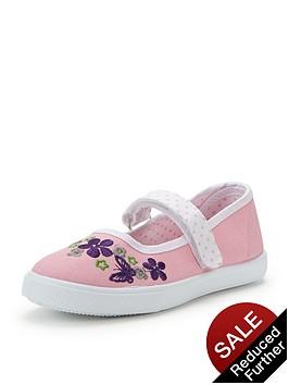 ladybird-younger-girls-mintanbspballerina-plimsolls