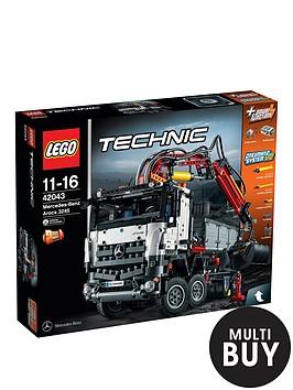 lego-technic-mercedes-benz-arocsnbsp3245-articulated-construction-trucknbsp42043-amp-free-lego-city-brickmaster