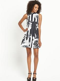 definitions-monochrome-printed-swing-dress