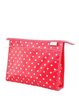 victoria-green-wash-bag-polka-dot-print