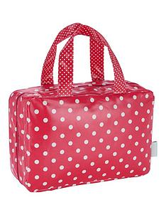 victoria-green-traveller-bag-polker-dot-print