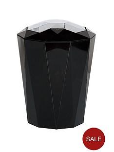 spirella-black-5-litre-bin