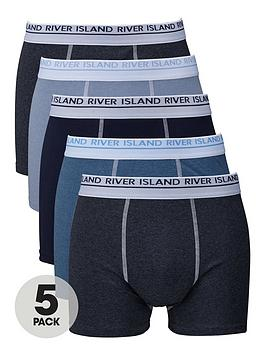 river-island-five-pack-blue-boxer-shorts
