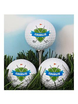 personalised-shield-design-set-of-3-golf-balls