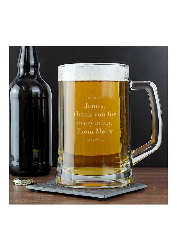 Jack Russell Dog Lover Gift Personalised Engraved Glass Tankard Dad Gift