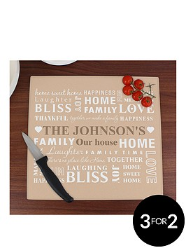 personalised-family-glass-chopping-board