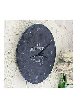 personalised-family-slate-clock