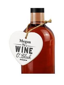 personalised-wine-o039clock-ceramic-heart