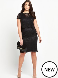 so-fabulous-scallop-edge-lace-double-layer-dressnbsp
