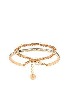 lola-and-grace-rose-gold-plated-slim-line-double-wrap-bracelet-made-with-swarovskireg-crystal