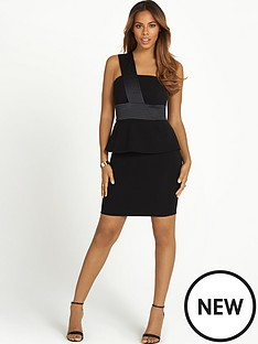 rochelle-humes-one-shoulder-peplum-dress