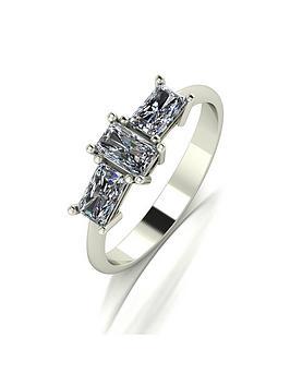 moissanite-9ct-gold-emerald-cut-1-carat-trilogy-ring