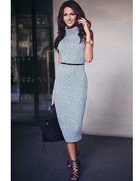lipsy-mk-knitted-roll-neck-midi-dress
