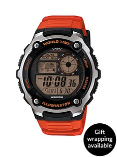 casio-mens-digital-watch-with-orange-strap