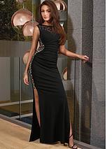 Michelle Keegan Black Glitter Maxi Dress