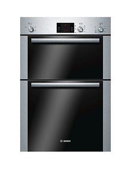 bosch-hbm13b251bnbspbuilt-in-electric-double-oven-brushed-stainless-steelnbsp