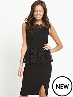 lipsy-lace-peplumnbspdress-with-front-split