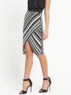 lipsy-lipsy-mono-diagonal-stripe-pencil-skirt