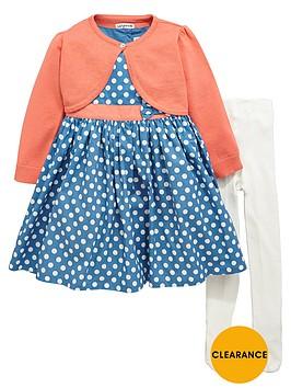ladybird-girls-spotty-dress-cardigan-and-tights-set-3-piece