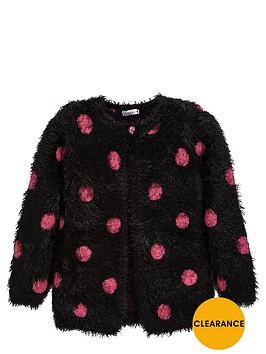 ladybird-girls-spotty-eyelash-cardigan