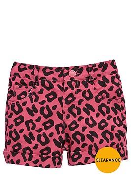 ladybird-girls-leopard-print-denim-shorts