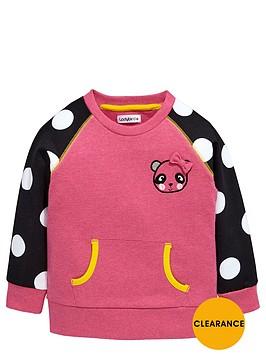 ladybird-girls-raglan-panda-sweat-top
