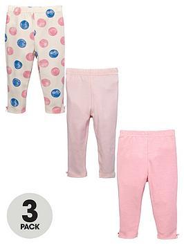 ladybird-baby-girls-print-and-plain-leggings-3-pack