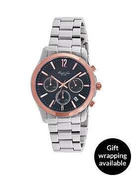 kenneth-cole-kenneth-cole-chronograph-black-dial-rose-gold-bezel-stainless-steel-case-and-bracelet-mens-watch
