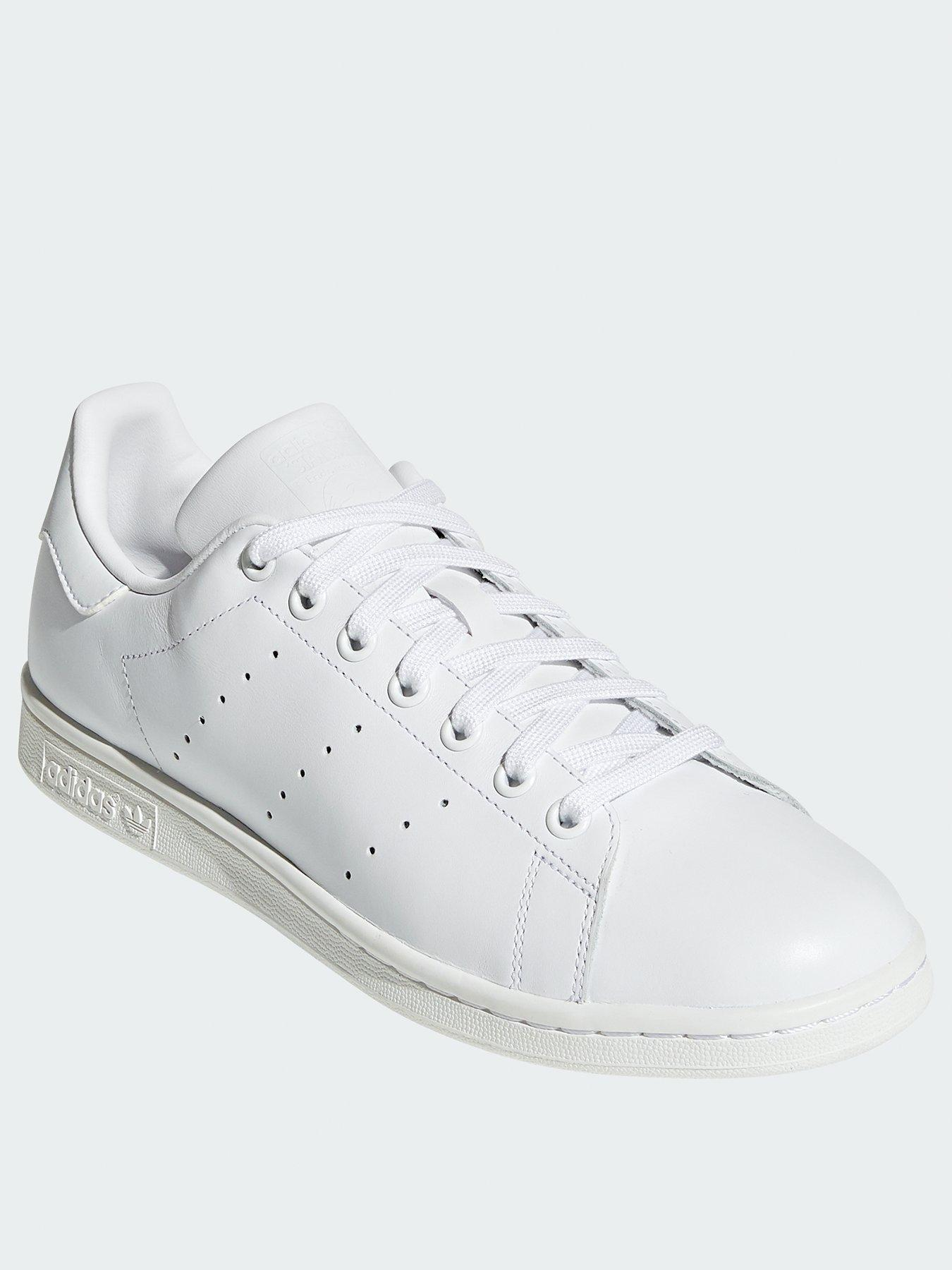 czech adidas originals stan smith black and white trainers