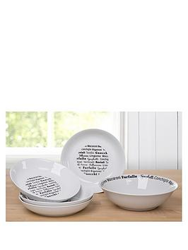 waterside-5-piece-italian-black-script-pasta-serving-set