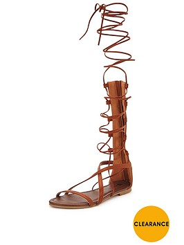 v-by-very-delphynbspknee-high-lace-up-gladiator-flat-sandal