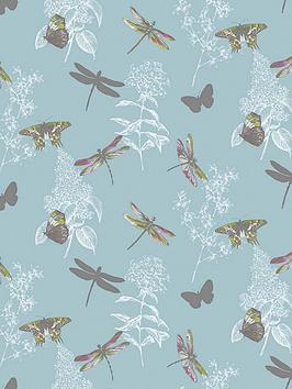 arthouse-enchanted-wings-teal-wallpaper