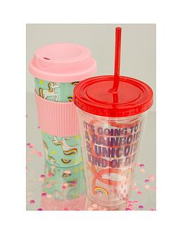 unicorn-travel-mug-amp-straw-cup-twin-set