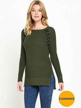 v-by-very-lace-up-raglan-detail-jumper