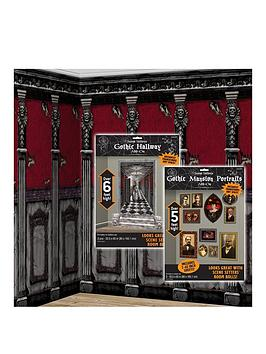 gothic-mansion-long-hallway-scene-setter-decorating-kit