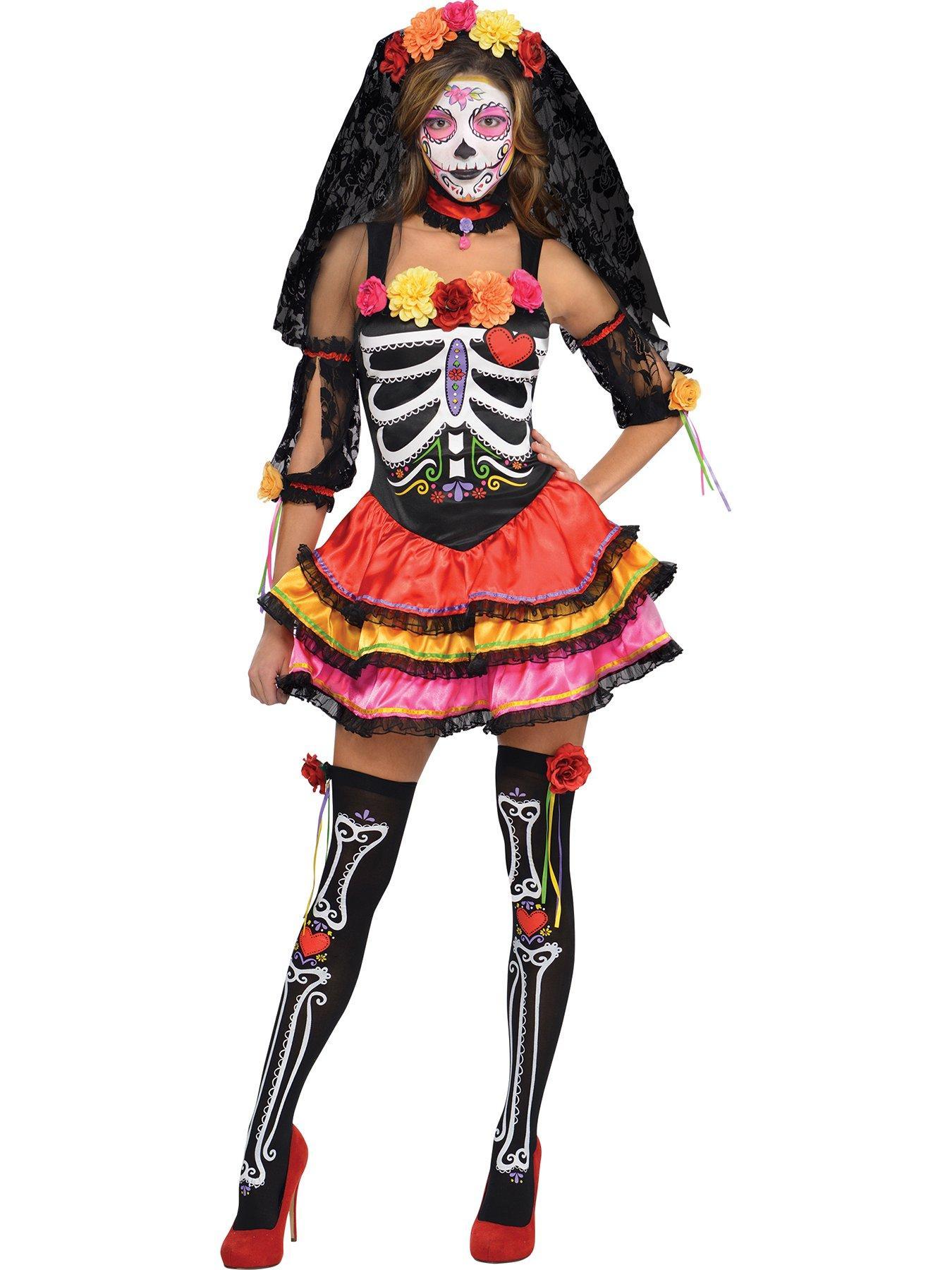 Fever Tutu skeleton fancy dress costume womens Halloween 4 6 8 10 16 18