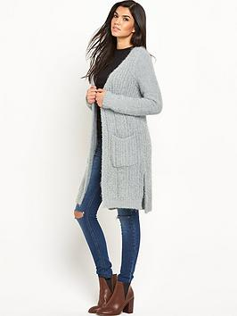 v-by-very-fluffy-yarn-side-split-cardigan