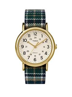 timex-weekender-white-dial-with-blue-plaid-strap-ladies-watch