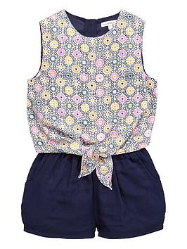 french-connection-girls-overlay-tie-waist-playsuit