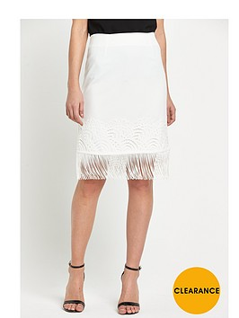 miss-selfridge-white-lace-fringe-skirt