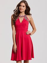 LITTLE MISTRESS EMBELLISHED CUT OUT DRESS