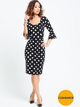 myleene-klass-spotted-bell-sleeve-shift-dress